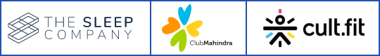 The Sleep Company + Club Mahindra + Cult.fit