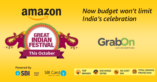 Amazon Great Indian Festival coupons, Offers & Promo Codes