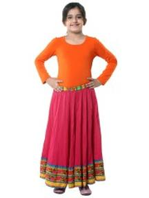 Grab Pink Cotton Flared Skirt @ Rs 719 Only