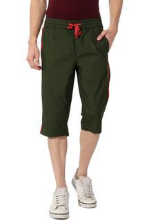 Green Active Crop Sweat Pants for Men