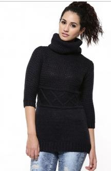 FEMELLA Knitted Turtle Neck Sweater For Rs 1165