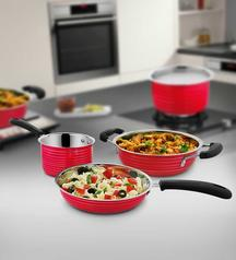Buy Stainless Steel Cookware Set 3 Pcs @ Rs 499 only