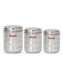 Get Kitchen Storage Steel Container 3 Pcs Set @ Rs 159