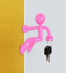 Buy Cool Trends Magnetic Man Key Holder (Pink) @ Best Price