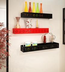 Steel Wall Shelves - Set of 3