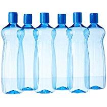 Princeware Aster Pet Fridge Bottle Set, 975ml, Set of 6, Blue 1471