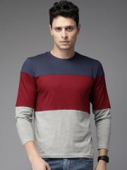 Colourblocked Round Neck T-shirt