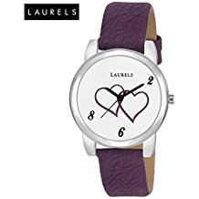 Laurels February White Dial Analog Wrist Watch - For Women