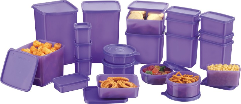 MasterCook - Polypropylene Multi-purpose Storage Container  (Pack of 21, Violet)