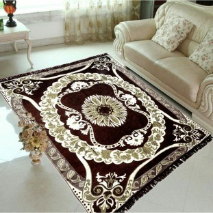 JUSTWAY Brown Chenille Carpet At Just Rs.399