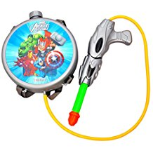Toyshine Startoys Holi Water Gun with High Pressure, Back Holding Tank, 3.0 L, Marvel Avengers