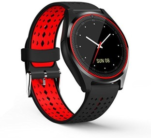 CELESTECH with Fitness Tracker, Camera, Sim Card and 32 GB Memory Card Slot smartwatch Black n Red
