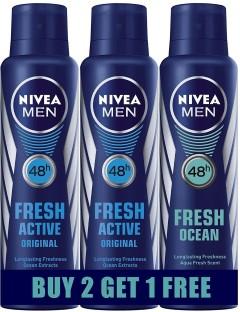 Nivea FRESH ACTIVE (BUY 2 GET 1 FREE) Body Spray