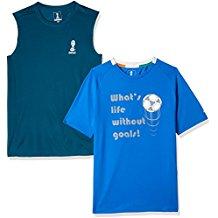 FIFA Mens Printed Slim Fit T-Shirt (Pack of 2)