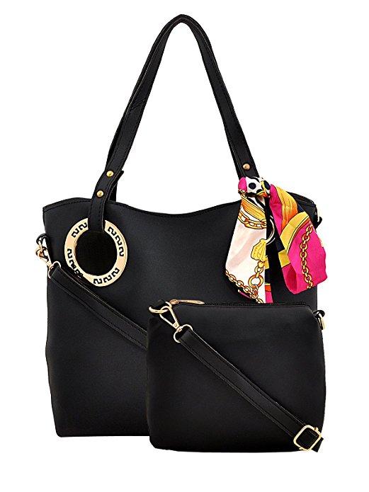 Mark & Keith Black Combo Handbag
