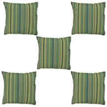 HOMEC Trendy Cushion Covers Set of 5 in 40 cm X 40 cm (Color - Green)