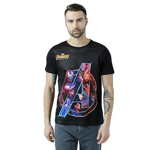 Marvel Avengers Black Cotton-Poly T-shirt For Men_MMA0060