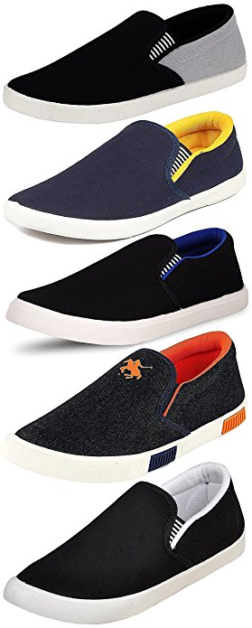 Ethics Perfect Combo Pack of 5 Loafer Shoes for Men