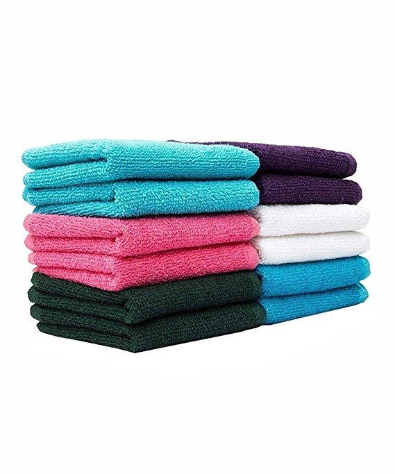 Casa Copenhagen-Basics Set Of 10 Pcs Terry Face Towels -(Assorted Any 10 Pcs Wash Towels)