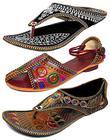 Thari Choice Womens Velvet Ethnic Slippers - Pack of 3