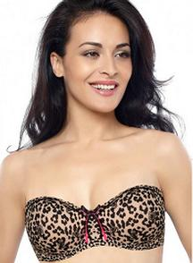 Penny Pretty Prints Abstract Padded Wired Strapless Bra For Rs 693 only