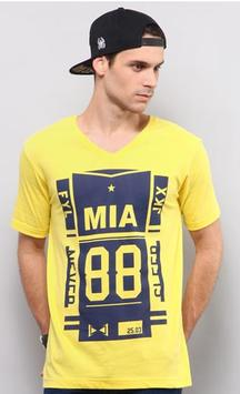 33% OFF Yellow Mia 88 T-shirt
