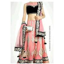 Get 28% Discount on Muskan Pink Net Lehenga Choli