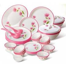 Flat 17% OFF on Nayasa 32 Pcs Printed Round Dinner Set