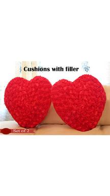 Valentine Heart Cushions With Fillers (Set Of 2)