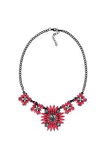 Neon Pink floral Necklace
