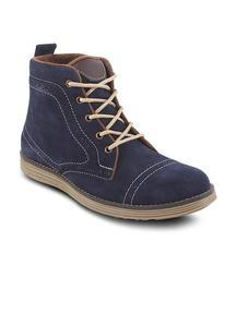 Flat 20% OFF on Men Blue Boots