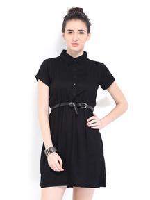 Roadster Black Shirt Dress : Get Flat 50% OFF