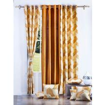 Get 54% OFF on Combo of 3 Curtains and 5 Cushion Covers