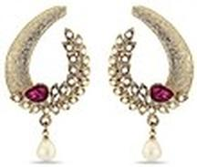 Luxor Violet Stone Studded Earrings @ Rs 749 Only
