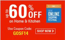 Up to 60% Off On Home and Kitchen Products