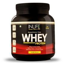 INLIFE Whey Protein Powder Vanilla Flavour Dietary Supplement : Get 20% OFF