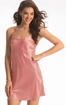 Candy Cane Satin Short Chemise For Rs 749