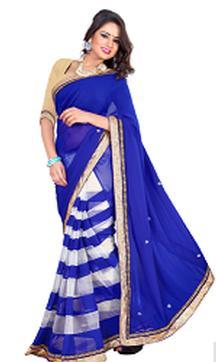 Blue Color Designer Saree For Rs 1399