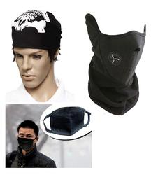 Bike Face Mask + Stylish Skull Jaw Bandana + Pollution Mask @ 60% OFF