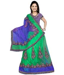 For the Diva in You -- Embroidered Lehenga Choli Set - Get 50% OFF