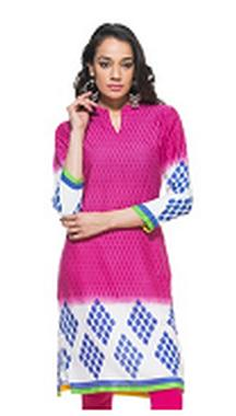 Pink Kurti 3/4th Sleeves For Rs. 349 Only
