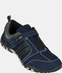 Blue Sports Shoes With Black Accents