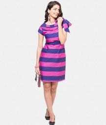 Pink And Blue Sailor Collar Dress
