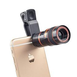 Teconica 8X_M Zoom Mobile Phone Telescope Universal Clip Lens DSLR Like Camera Compatible with All Android, iOS and Windows Devices [Colour May Vary]
