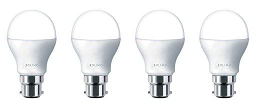 Solimo Base B22 7-Watt LED Bulb (Pack of 4, Cool Day Light)