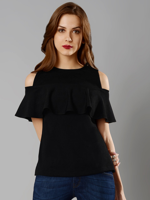 FabAlley Women Black Solid Top