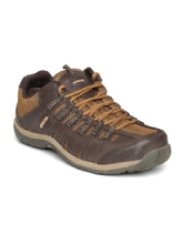 Woodland Men Brown Solid Leather Casual Shoes