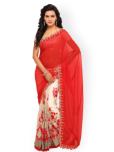 Pure Georgette Embroidered Saree