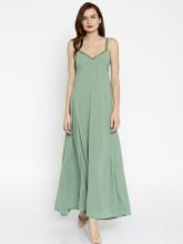 SASSAFRAS Women Solid Maxi Dress