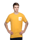 Mens Athletic Sports T-shirt with Printed Adidas Brand Logo